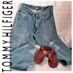 TOMMY HILFIGER VINTAGE BLUE HIGH WAISTED JEANS 34